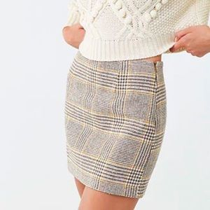 F21 Wool plaid mini skirt